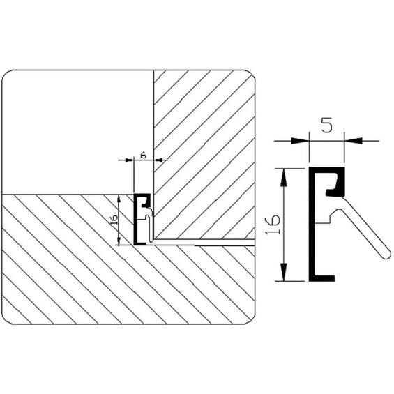 SPONNINGTOCHTPROFIEL GEBOORD            G4.725 AR 2,4MTR