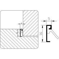SPONNINGTOCHTPROFIEL GEBOORD            G4.725 AR 3MTR