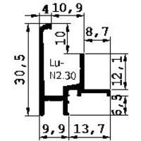 AANSLAGPROFIEL N2.30 GEANODISEERD 5MTR  3E GENERATIE