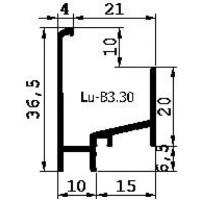 AANSLAGPROFIEL B3.30 GEANODISEERD 5MTR  3E GENERATIE