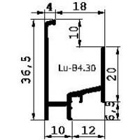 AANSLAGPROFIEL B4.30 GEANODISEERD 5MTR  3E GENERATIE