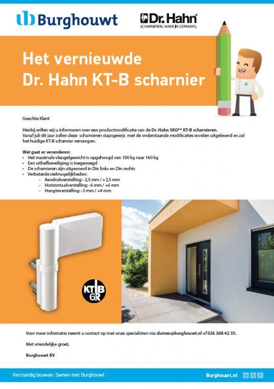 Het vernieuwde Dr. Hahn KT-B scharnier