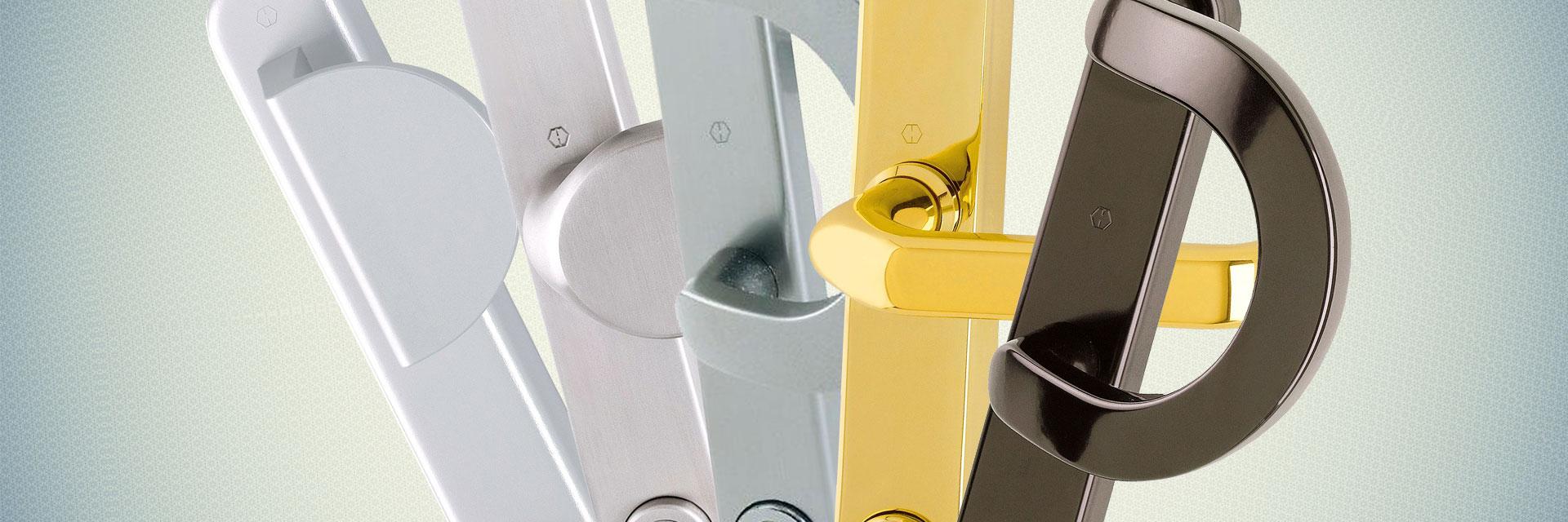 Stijl- en kleurvarianten van deurbeslag en accessoires