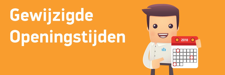 Aangepaste openingstijden Koningsdag, Hemelvaart & Pinksteren