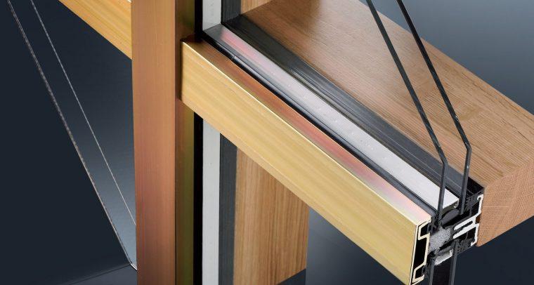 De 'warmte' van hout en de super strakke uitstraling van aluminium